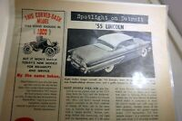 "Lincoln 1955 Magazine clippings advertisement ""spotlight on Detroit"" vintage"