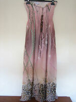 A LOVELY STYLISH H&M FASHION MIXED COLOUR DRESS SIZE 8-10 LENGTH APPROX 44 INCHE