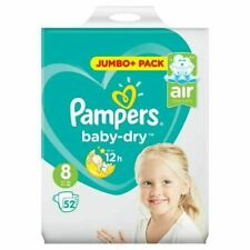 Pampers Baby-Dry Size 8 Pack of 52 Diapers