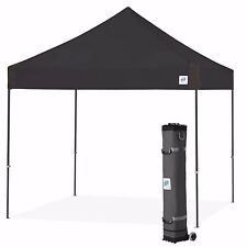 E-Z UP Vantage Canopy Instant Shelter 10ft x 10ft Gazebo Tent - Black