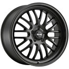 4-ridler 607 18x8 5x4.75 0mm Matte Black Wheels Rims 18 Inch