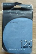 Topshop Blue Grey Ultimate 3D Stretch Tights Size M (PET) BNIP Free P&P