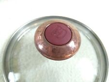 Paula Dean Replacement Red Knob 5 1/2 Inch Rim Glass Replacement Lid
