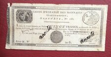 France - Joli Billet de 20 Francs An 10 - Caisse d'échange des Monnaies de Rouen