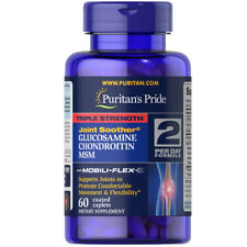 Puritan's Pride Triple Strength Glucosamine, Chondroitin & MSM Joint Soother - 90 Coated Caplets