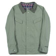 iNi Cooperative CORD BOY Mens Snap Front Jacket Olive Green Large NEW