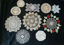Mixed Lot Vintage Doilies small to large