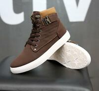 New Mens Fashion Shoes Leather Shoes Casual High Top Shoes Canvas Sneakers shoes