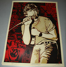 RED Keith Morris Shepard Fairey Poster Obey Giant Print Signed Glen Friedman