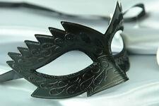 Herren oder Damen schwarz stachelig Venezianische Maskerade Party Augen Maske