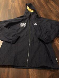 New Adidas Mens Columbus Crew Soccer Light Jacket Size Medium Navy