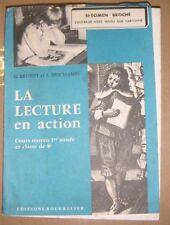 La lecture en action CM1 -  Brunet Deschamps - Bourrelier - Manuel scolaire 1958