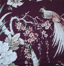 NWT Nicole Miller Artelier PLUM Floral Peacock 3pc KING DUVET Cover SHAM