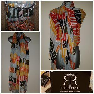 SCOTLAND Scarf Shawl Wrap Pashmina BNWT Large Tassel Edge ROBIN RUTH Ladies