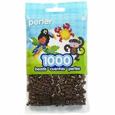 1000 Perler Brown Color Iron On Fuse Beads : 80-19012