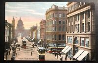 1911 Belfast England Picture Postcard cover To Pasadena USA Donegal Place View