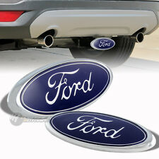 "FORD Logo Chrome Stainless Steel Hitch Cover Trailer Tow Receiver For 2""/1.25"""