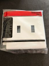 Pas And Seymour White Wall Plate Screwless Decorator New 2 Gang