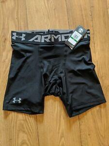 "Mens 15"" HeatGear Under Armour Black Compression Shorts"