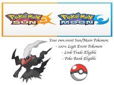 Pokemon Ultra Sun and Moon Dark Explorer Darkrai MAY2012 Event Pokemon Darkrai