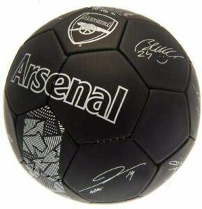 ARSENAL FC Phantom Football Signature Soccer Ball Black- 5