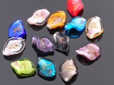 10pcs Mixed 18X14mm Helix Twisted Lampwork Glass Loose Spacer Beads DIY Jewelry