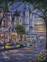 Chart Needlework DIY - Counted Cross Stitch Patterns - Strolling in Night