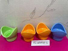 Tragbarer Eierhalter mit 12 Steckpl/ätzen Egg Holder Tray doppelseitiger Eierbeh/älter aus Kunststoff mit Deckel und Griff