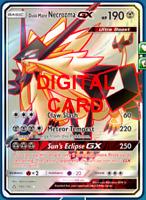 1X Dusk Mane Necrozma GX 145/156 FA Pokemon Online Card TCG PTCGO Digital Card