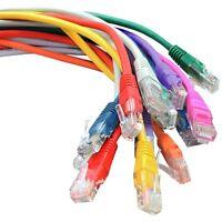 Cat6 Patch UTP COPPER 4 Pair Crossover Cable Flush Moulded 0.5m 1m 2m 3m 5m 10m
