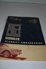 Vintage 1963 Rambler Classic Ambassador Car Operator's Manual