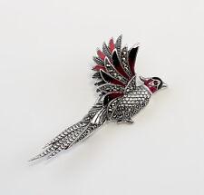 9927085 925er Silber emaillierte Brosche fliegender Vogel