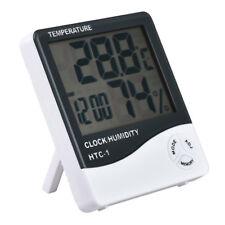 Digital LCD Thermometer Hygrometer Temperature Humidity Meter Gauge Clock New KK