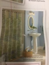 "Better Homes & Gardens Scrolls & blossoms Fabric Shower Curtain 72"" x 72"" New"