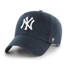 abed7dffee40f New York Yankees 47 Brand Clean Up Adjustable On Field Cotton Blue Hat Cap  MLB