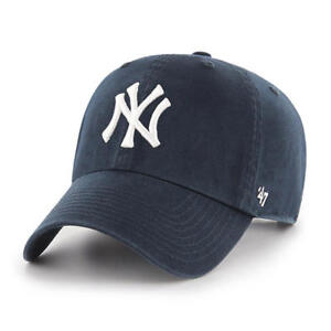 New York Yankees 47 Brand Clean Up Adjustable On Field Cotton Blue Hat Cap MLB