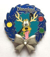 Disney Pin Badge Disneyland Diamond Wreath - Pluto
