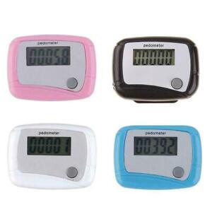 LCD Digital Step Pedometer Walking Calorie Counter Run Belt Clip Distance B8R4