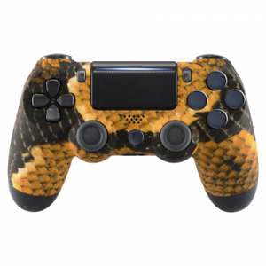 PS4 Controller Cover Case Hülle Gehäuse Front Gold Dragon Slim Pro JDM-040