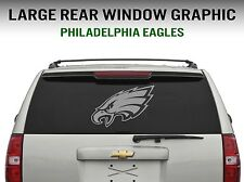 Philadelphia Eagles Window Decal Graphic Sticker Car Truck SUV - Large (Silver)