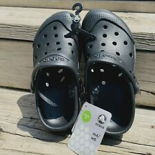 New Crocs Classic Clog Ultimate Cloud Black size 6 Womens 4 Mens Roomy Fit