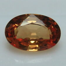 GENUINE MINED NATURAL ORANGE SAPPHIRE OVAL CUT 6.1 X 4.1 MM. 0.64 CTS. *4552*