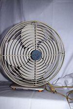 """Vintage GE General Electric  60s Desk Fan Oscillating 10"""" 12 metal Blades."""