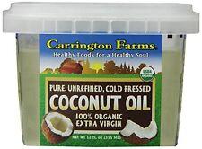 Carrington Farms Coconut Oil 100% Organic Extra Virgin 12 Ounce Gluten-Free