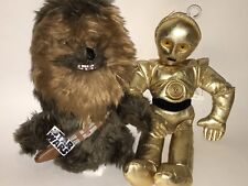 STAR WARS Stuffed Plush C3PO & CHEWBACCA LOT Kenner Lucas Films EUC NWT