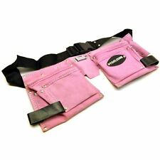 Leather Tool Belt / Storage Pouch PINK LADIES Tool Bag  / Roll Mat Holder TE45