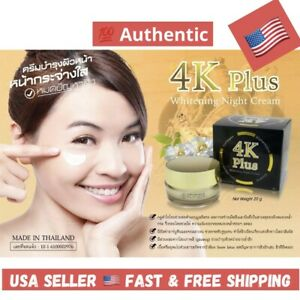 4K PLUS Whitening Night Cream Ginseng Anti Aging Reduce Acne Wrinkle Black Spot