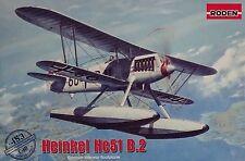 Roden Heinkel He51 B.2 German interwar floatplane Bausatz Kit 1:48 Kit Art 453
