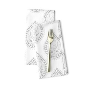 Indian Paisley Decorative Modern Home Cotton Dinner Napkins by Roostery Set of 2