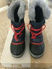 Youth Sorel Boots, Navy, Red and Grey Size 5
